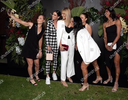 (L-R) Australian tennis players Sam Stosur, Ajla Tomljanovic, Alicia Molik, Ashleigh Barty, current women's world number one, Priscilla Hon and Astra Sharma pose for a photo ahead of the 2019 Fed Cup Final Dinner at the State Reception Centre in Perth, Australia, 07 November 2019 (issued 08 November 2019). The Fed Cup Final will be played in Perth on 9 November and 10 November 2019 between Australia and France.