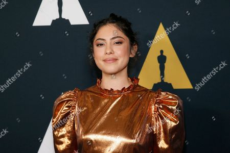 Rosa Salazar poses at the Academy Nicholl Fellowships in Screenwriting Awards and Live Read at the Academy of Motion Picture Arts and Sciences Samuel Goldwyn Theater on in Beverly Hills, Calif