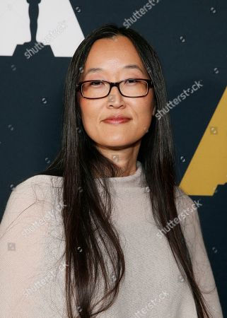 Stock Picture of Jennifer Yuh Nelson, Academy Short Films and Feature Animation Branch Governor and Nicholl Fellowships in Screenwriting Committee Chair poses at the Academy Nicholl Fellowships in Screenwriting Awards and Live Read at the Academy of Motion Picture Arts and Sciences Samuel Goldwyn Theater on in Beverly Hills, Calif