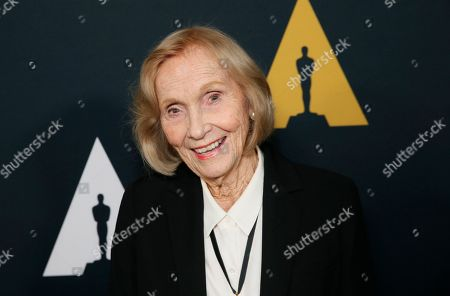 Eva Marie Saint poses at the Academy Nicholl Fellowships in Screenwriting Awards and Live Read at the Academy of Motion Picture Arts and Sciences Samuel Goldwyn Theater, in Beverly Hills, Calif