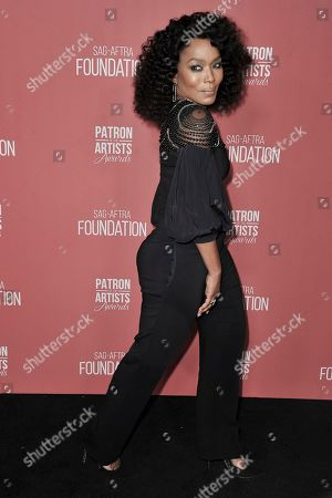Angela Bassett attends SAG-AFTRA Foundation's 2019 Patron of the Artists Awards at the Wallis Annenberg Center for the Performing Arts, in Beverly Hills, Calif