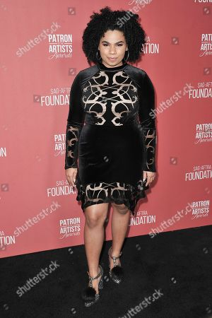 We McDonald attends SAG-AFTRA Foundation's 2019 Patron of the Artists Awards at the Wallis Annenberg Center for the Performing Arts, in Beverly Hills, Calif