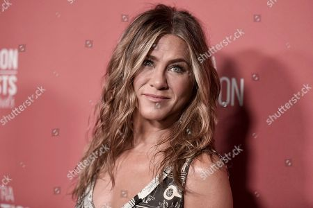 Jennifer Aniston attends SAG-AFTRA Foundation's 2019 Patron of the Artists Awards at the Wallis Annenberg Center for the Performing Arts, in Beverly Hills, Calif