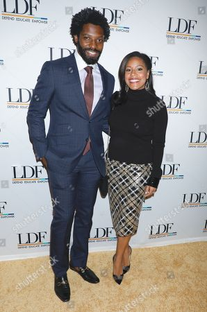 Stock Image of Uche Ojeh and Sheinelle Jones