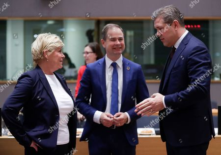 Editorial picture of European Free Trade Association (EFTA) meeting for finance ministers in Brussels, Belgium - 08 Nov 2019