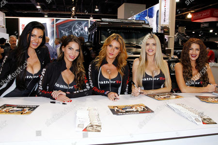 Stock Photo of Weathertech Girls: April Rose, Alyse Madej, Gia Marie, Stephanie