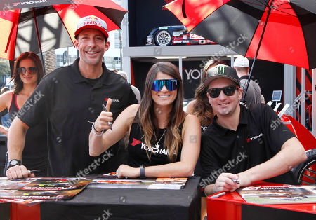 Stock Photo of Travis Pastrana, Lyndsey Pastrana and Blake William