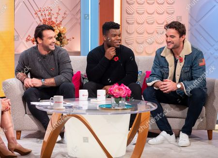 Stock Photo of Try Star - Thom Evans, Ben Foden and Levi Davis