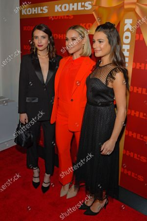Stock Picture of Emma Roberts, Becca Tobin and Lea Michele