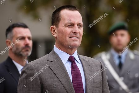 US Ambassador to Germany Richard Allen Grenell waits for the arrival of US Secretary of State Pompeo at the German Defense Ministry in Berlin, Germany, 08 November 2019. Pompeo is in Germany ahead of the 30th anniversary of the fall of the Berlin Wall, which led to the collapse of the communist East German government in 1989 and the eventual reunification of East and West Germany. Pompeo served in the US armed forces and was a tank commander stationed in West Germany.