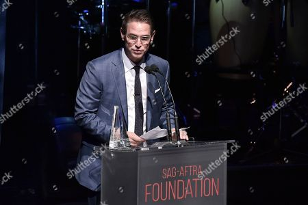 Greg Berlanti onstage at SAG-AFTRA Foundation's 2019 Patron of the Artists Awards at the Wallis Annenberg Center for the Performing Arts, in Beverly Hills, Calif