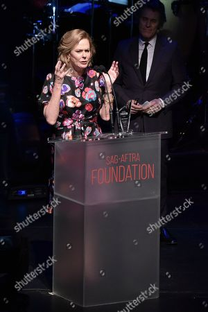 JoBeth Williams onstage at SAG-AFTRA Foundation's 2019 Patron of the Artists Awards at the Wallis Annenberg Center for the Performing Arts, in Beverly Hills, Calif