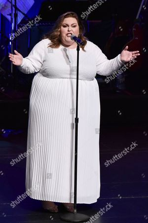 Chrissy Metz onstage at SAG-AFTRA Foundation's 2019 Patron of the Artists Awards at the Wallis Annenberg Center for the Performing Arts, in Beverly Hills, Calif