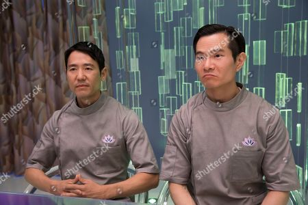 Stock Image of Rob Yang as Left/Youngsu and James Seol as Right/Jung-Ho