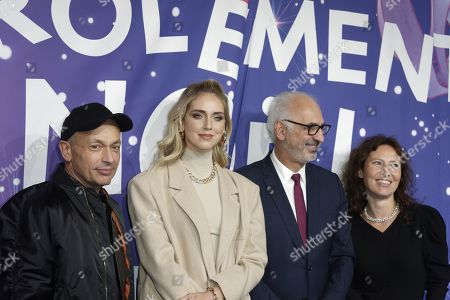Stock Picture of Franck Banchet, Chiara Ferragni, Paolo De Cesare and Emmanuelle Marque