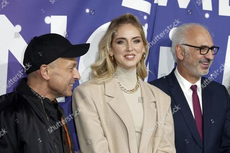 Stock Image of Franck Banchet, Chiara Ferragni and Paolo De Cesare