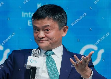 Jack Ma, co-founder and former executive chairman of Chinese e-commerce company Alibaba Group attends the Kyiv International Economic Forum in Kiev, Ukraine, 08 November 2019. The Kyiv International Economic Forum is an annual international forum which brings together Ukrainian government officials, business representatives, economists, scientists and investors and runs from 08 to 09 November 2019.