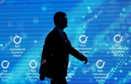Stock Photo of Jack Ma, co-founder and former executive chairman of Chinese e-commerce company Alibaba Group attends the Kyiv International Economic Forum in Kiev, Ukraine, 08 November 2019. The Kyiv International Economic Forum is an annual international forum which brings together Ukrainian government officials, business representatives, economists, scientists and investors and runs from 08 to 09 November 2019.