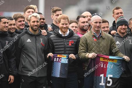 Editorial photo of Prince Harry in Twickenham, London, Spain - 08 Nov 2019