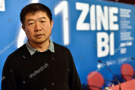 Stock Photo of Wang Bing is seen at Zinebi61 Film Festival that has recognized him with the Honor Mikeldi Award in Bilbao, Spain, 08 November 2019. The Zinebi61 film festival is held from 08 to 15 November 2019.