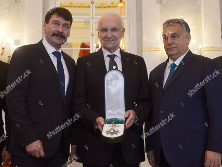 Editorial picture of Edmund Stoiber awarded with the Grand Cross of the Hungarian Order of Merit, Budapest, Hungary - 08 Nov 2019