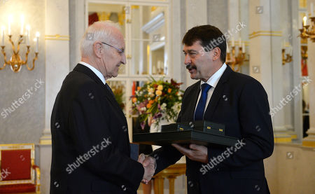 Editorial image of Edmund Stoiber awarded with the Grand Cross of the Hungarian Order of Merit, Budapest, Hungary - 08 Nov 2019
