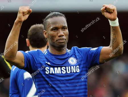 Chelsea's Didier Drogba during the English Premier League soccer match between Arsenal and Chelsea at the Emirates Stadium, London, England. The international soccer players now studying on an executive masters course could field one of the best school teams ever seen. After classes this week, Ballon d'Or winner Kaka was joined on the field by Champions League winners Florent Malouda and Julio Cesar and an array of one-time national team stars. Didier Drogba, though not playing, and Andriy Arshavin are also classmates for an 18-month education now in its third edition
