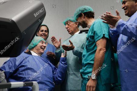 Editorial picture of Prince Aga Khan IV donates robotic surgery equipment, Lisbon, Portugal - 08 Nov 2019