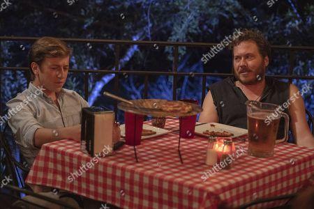 Stock Picture of Skyler Gisondo as Gideon Gemstone and Scott MacArthur as Scotty/The Devil