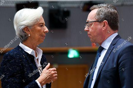 Christine Lagarde and Petteri Orpo