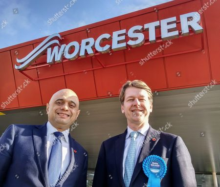 Chancellor Sajid Javid visiting Worcester Bosch at Worcester today with Worcester MP Robin Walker