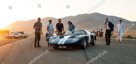 Ray McKinnon as Phil Remington, Jack McMullen as Charlie Agapiou, Matt Damon as Carroll Shelby and Christian Bale as Ken Miles