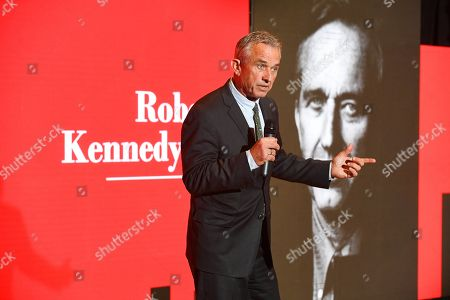 Editorial picture of Robert Kennedy Jr's speech on Trump's decision to exit Paris climate agreement, Granada, Spain - 08 Nov 2019