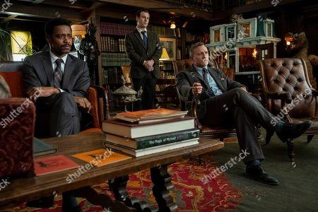 LaKeith Stanfield as Lt Elliott, Noah Segan as Trooper Wagner and Daniel Craig as Benoit Blanc