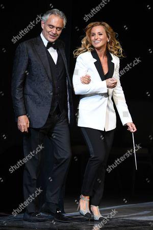 Andrea Bocelli and Beatrice Venezi