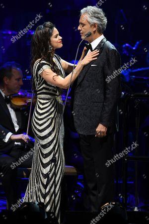 Larisa Martinez and Andrea Bocelli