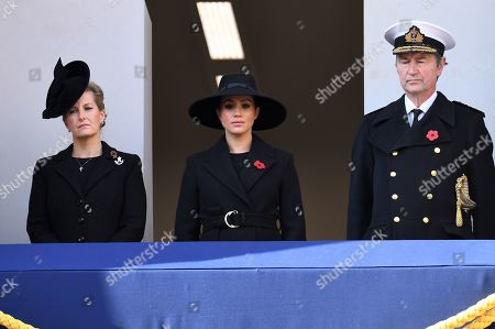 Sophie Countess of Wessex, Meghan Duchess of Sussex and Tim Laurence