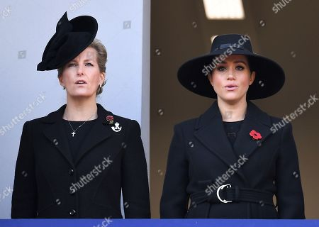 Stock Photo of Sophie Countess of Wessex and Meghan Duchess of Sussex