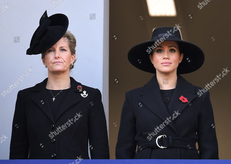 Stock Image of Sophie Countess of Wessex and Meghan Duchess of Sussex