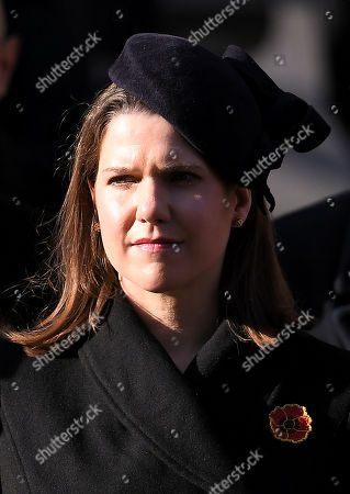 Jo Swinson, Leader of the Liberal Democrats, at the Cenotaph.