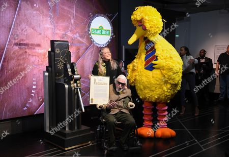 Editorial picture of Sesame Street's Big Bird Lights the Empire State Building, New York, USA - 08 Nov 2019