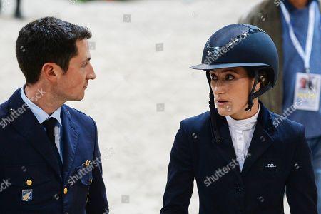 Jessica Springsteen of USA with Italian rider Lorenzo De Luca