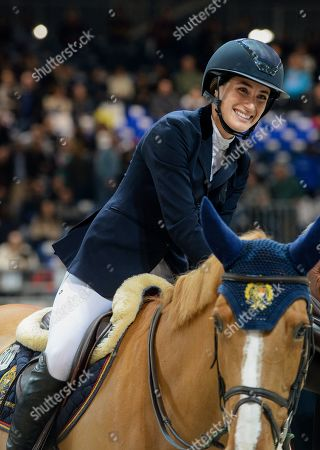 Jessica Springsteen riding Volage du Val Henry for the USA wins the Prestige sponsored International Jumping competition against the clock