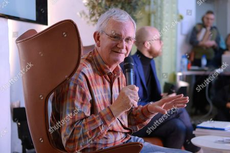 Stock Image of Photographer Martin Parr at the Photography fair organised within the Grand Palace