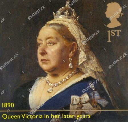 Great Britain issues stamps depicting Queen Victoria (1819-1901) to mark the 200th anniversary of the birth of the United Kingdom's longest-reigning monarch after Queen Elizabeth II. Portrait of Queen Victoria (1899), Empress of India, Queen of Great Britain, Canada and Austrialia.