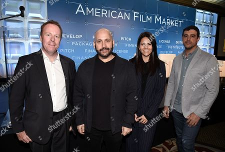 Scott Roxborough, European Bureau Chief, The Hollywood Reporter, Aaron L. Gilbert, Chairman & CEO, Ashley Levinson, Chief Strategy Officer, Anjay Nagpal, Chief Content Officer