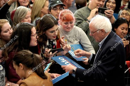 Editorial image of Election 2020 Bernie Sanders, Council Bluffs, USA - 08 Nov 2019