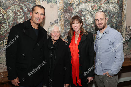 Stock Image of Scott Stuber (head of original films at Netfli), Glenn Close, Jane Rosenthal (Producer), Darren Aronofsky