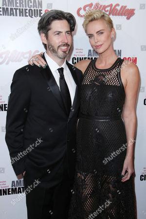 Stock Image of Jason Reitman and Charlize Theron