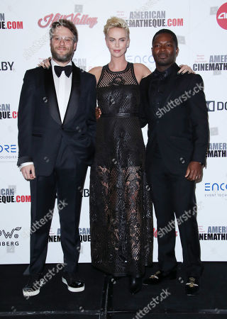 Stock Picture of Seth Rogen, Charlize Theron and David Oyelowo